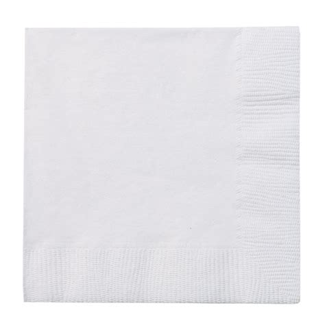 Paseo Napkin Luncheon Plain White white 2 ply paper lunch napkins 50ct white paper goods square plates napkins table covers