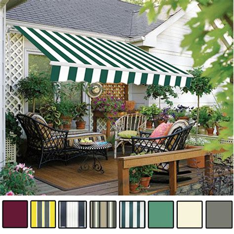 Garden Awnings And Canopies by Manual Awning Canopy Garden Patio Shade Shelter Aluminium