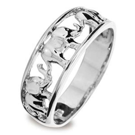 white gold ring elephant just jewellery