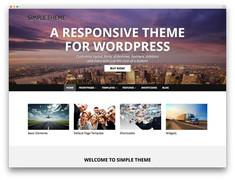 wordpress themes with video 50 best free responsive wordpress themes 2017 colorlib