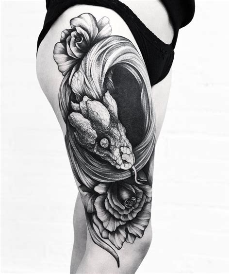 snake tattoo with roses 177 best snake tattoos images on comment