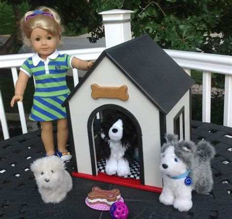 girl dog house medium dog house for 18 in american girl doll pets boys and girls bla