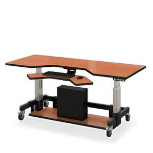 Hydraulic Computer Desk Height Adjustable Stand Desk Afcindustries