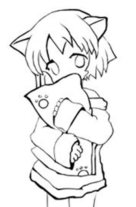 imagenes de nekos kawaii para dibujar kawaii neko png 178 215 270 pinta y colorea pinterest