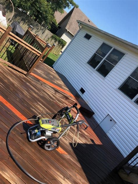 deck cleaning prior  stain ryobi nation projects