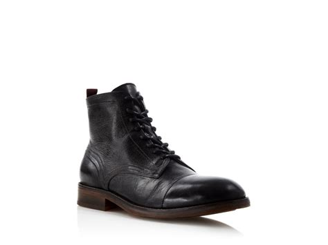 mens black cap toe boots lyst h by hudson palmer cap toe boots in black for