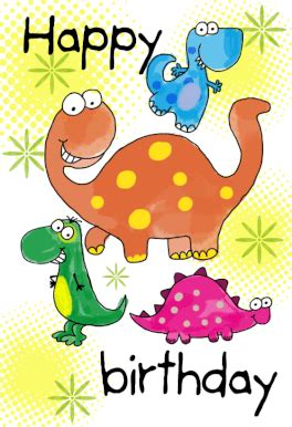 printable birthday card child happy birthday dinosaurs free printable birthday card