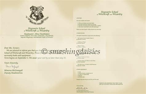 Hogwarts Acceptance Letter Replica Hogwarts Letter By Smashingdaisies On Deviantart