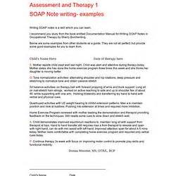 Documentation Pearltrees Soap Note Template Occupational Therapy