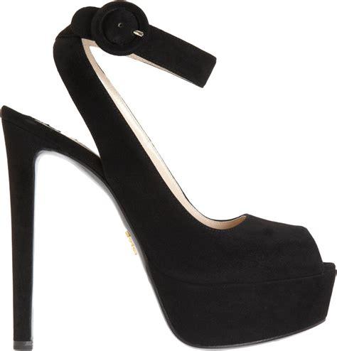 Ankle Platform Sandals lyst prada ankle platform sandal in black