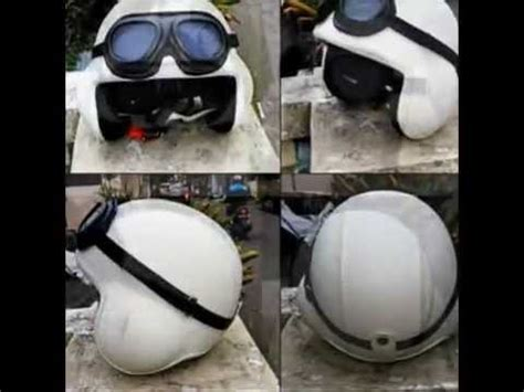 Helm Retro Vespa Hitam Polos Dengan Kacamata Pl1g 5233e87a videolike
