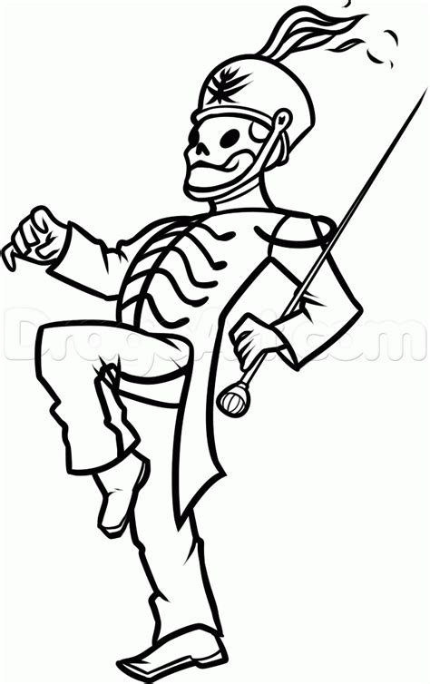 How To Draw The Black Parade Skeleton