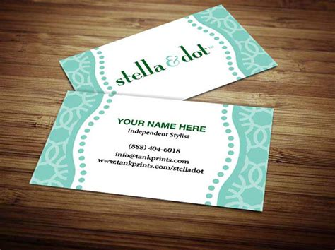 stella and dot business card template stella and dot business cards on behance
