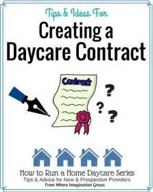 Family Day Care Parent Handbook Template by Creating A Home Daycare Contract Where Imagination Grows
