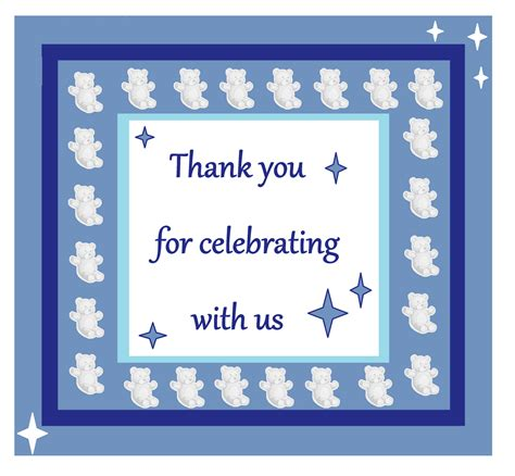 Thank You Note Template Baby Gifts Thank You Notes Sles For Gift In Shapes Loving