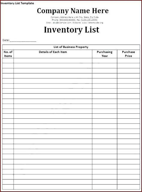 Free Landlord Inventory Template Unfurnished Tenancy Download Free Rental Car Checklist Form Furnished Rental Inventory Checklist Template
