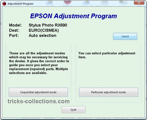 epson sx205 printer resetter adjustment program reset counter epson rx690 with adjustment rx690 tricks