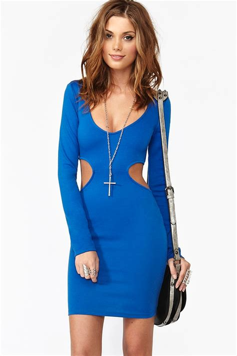 who is the gal in the blue dress in the viagra commercial nasty gal blaze cutout dress blue in blue lyst