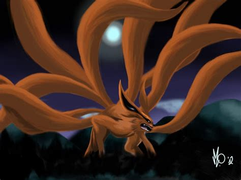 kurama the nine tailed fox by genius nextdoor