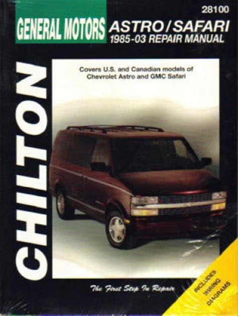 free online auto service manuals 1996 gmc rally wagon g3500 interior lighting chilton chevrolet astro gmc safari 1985 2005 repair manual