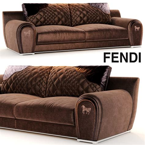 fendi couch sofa varenne fendi 3d model
