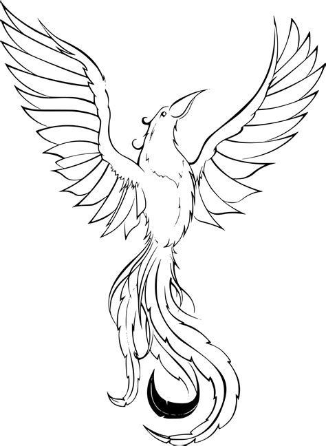 Coloriage Phoenix 224 Imprimer The Colouring Book L