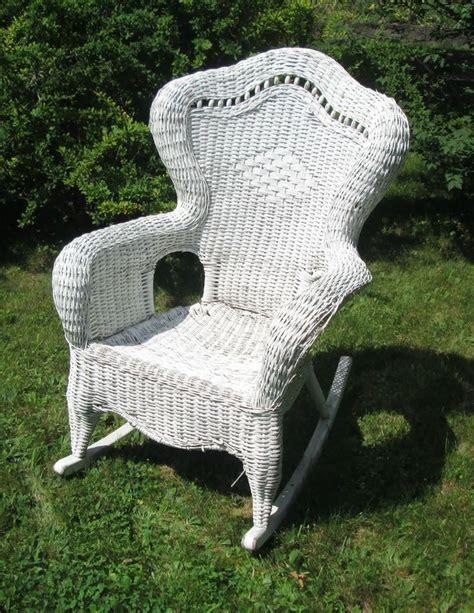 white wicker chairs fabulous white wicker rocking chair wicker wrought iron