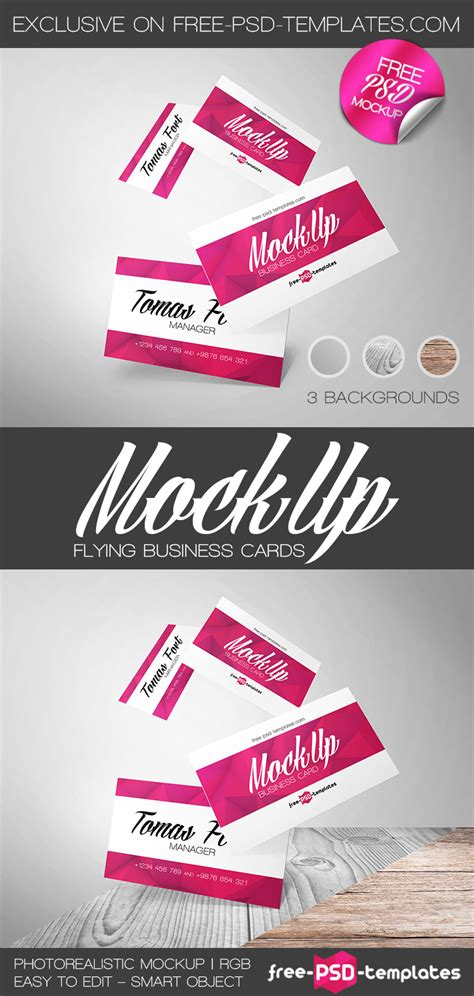 free psd templates cards free flying business cards mock up in psd free psd templates