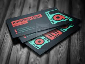 exles of dj business cards flat dj business card psd template by iamvinyljunkie on
