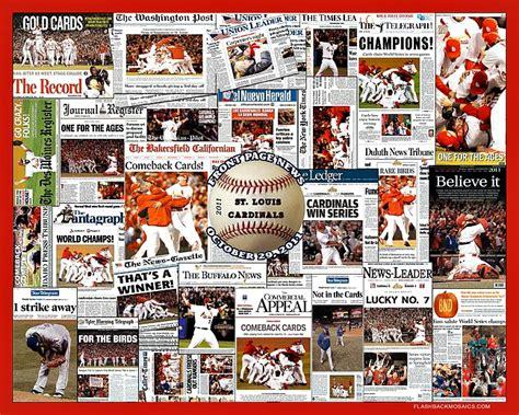 Large Wall Art by St Louis Cardinals 2011 World Series Champions Mosaic