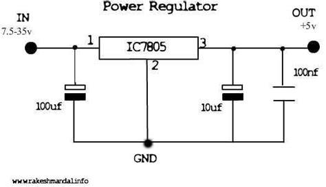 ic 7805 pin diagram 7805 voltage regulator circuits search useful