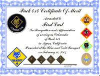 cub scout certificate templates cub scout resources from pack 414
