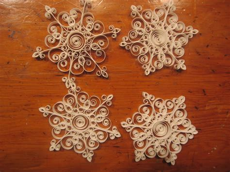 snowflake patterns quilling fugue salad quilled snowflakes