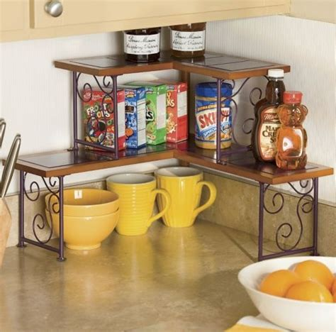 Kitchen Counter Corner Shelf 2 Tier Corner Shelf Home Pinterest