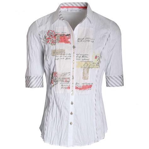 Sleeve Printed Panel Shirt s half sleeve printed panel shirt by just white at