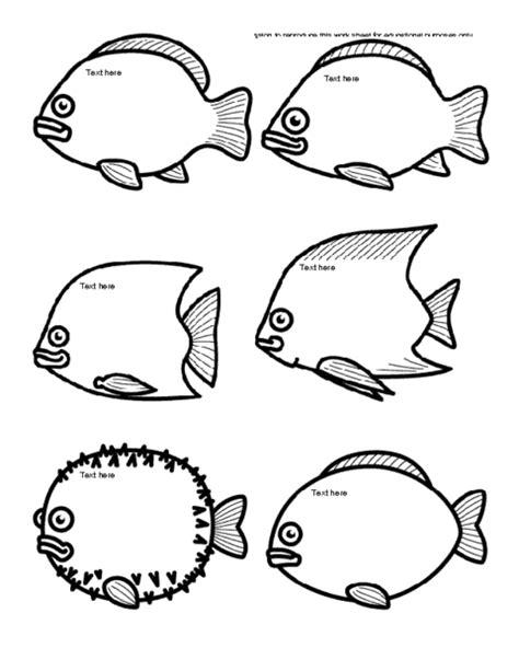 multiple fish coloring page fish icebreaker template education world