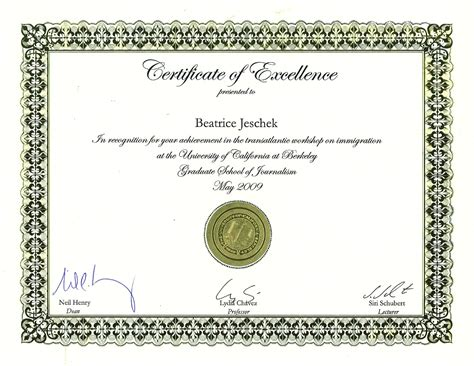 certificate of excellence templates printable certificate of excellence template