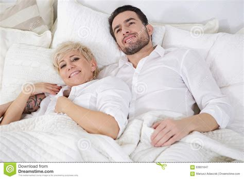 Man And Woman In Bed Stock Photo Image 63801647