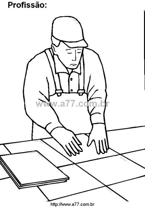Desenho Para Colorir Tema: Trabalhando. Profissão Para