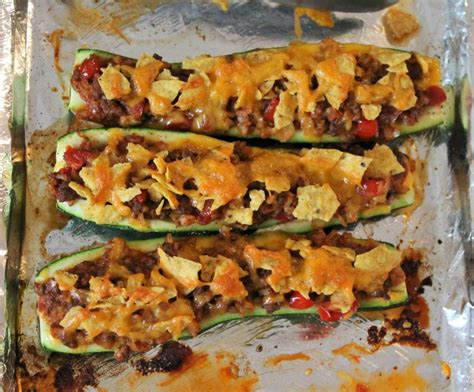 taco boats with cheese taco zucchini boats