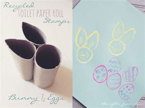 easter crafts with toilet paper rolls recycled tp roll easter bunny and egg sts kid s craft