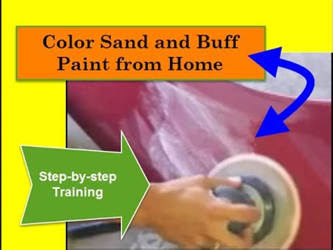 color sand and buff paint from home step by step for vip