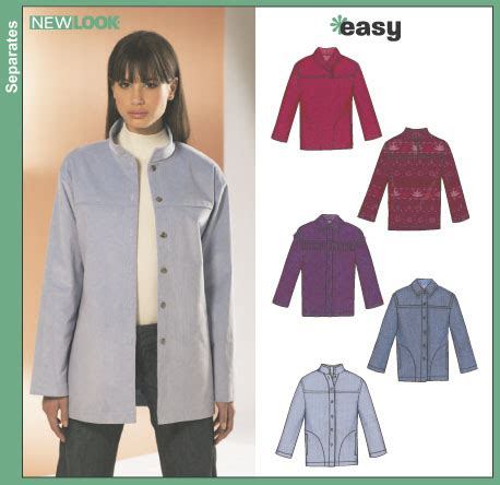 pattern review new look 6322 new look 6322 misses jackets and pullover tops
