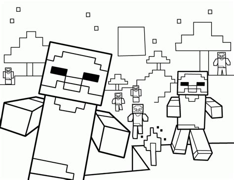 minecraft coloring pages zombie pigman minecraft zombie pigman coloring pages coloring home