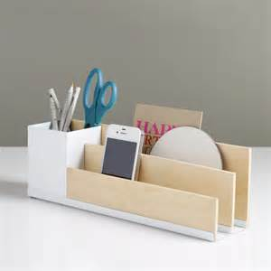 White Desk Organizer Portola Desk Organizer White By Design Ideas Fab
