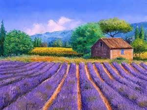 Landscape Artists Fields Dreamy Provence Jean Marc Janiaczyk Landscape Paintings