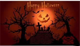 free vector がらくた素材庫 ハロウィン 夜の墓場を描いたフライヤー テンプレート halloween