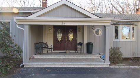 porch vs portico front entry portico in scotch plains nj