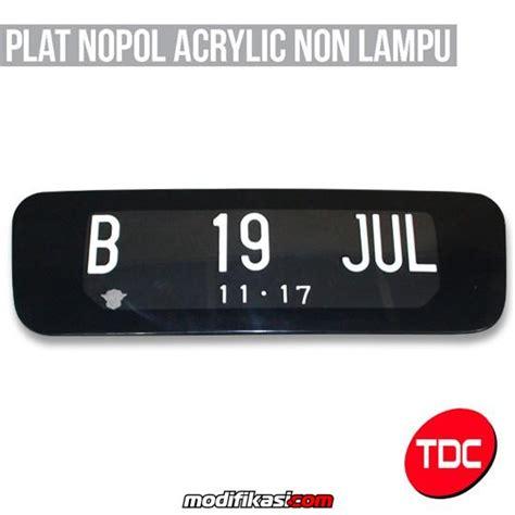 Tatakan Plat Nomor Jdm Carbon Logo baru tatakan plat nomor acrylic lu jdm dll lengkap