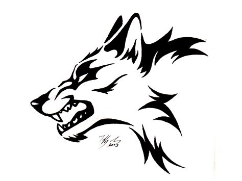 tribal wolf tattoo design black tribal wolf design drawing